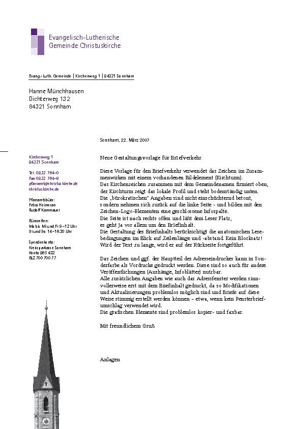 Evangelisch-Lutherische Kirche in Bayern - das Zeichen: Briefbogen